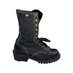 Danner Tillamook Flashpoint NFPA certified black boots sz 9.5 D