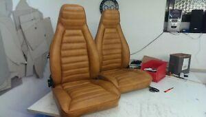 Neu beziehen ihrer Porsche 911 Sitze mit Echtleder • Vordersitze • Sattlerei