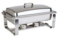 Edelstahl Chafing Dish CATERER stapelbar mit GN 1/1 Behälter Gastlando