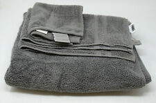 Wamsutta Ultra Soft Micro 100% Cotton 3-Piece Towel Set in Charcoal