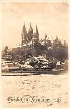 Meissen in Eis und Schnee Winter Church Eglise Panorama