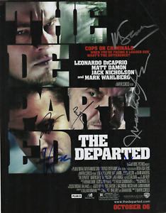 The Departed cast signed autographed 11x14 photo! DiCaprio! Damon! Wahlberg 6610
