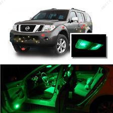 For Nissan Pathfinder 05-12 Green LED Interior Kit + Green License Light LED