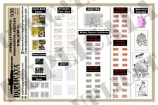 For Dioramas- 1/35 American Personal Papers/Possessions - Vietnam War (2 sheets)
