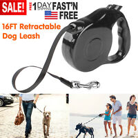 16Ft Heavy Duty Retractable Dog Leash Walking Lead for S/M/L Pet Dogs Waterproof