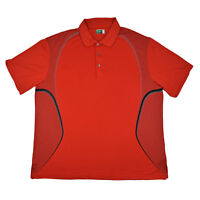 Ben Hogan Performance Men's Side Print Polo Shirt in Red Size 3XL