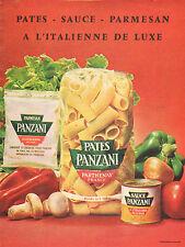 Publicité 1963  PATES SAUCE PARMESAN  à l' italienne de luxe  PANZANI  ...