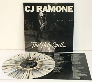 CJ RAMONE holy spell WHITE VINYL w/BLACK SPLAT Lp Record w/lyric insert, ramones