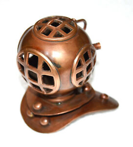 TABLE TOP COPPER FINISH MINI DIVER DIVING DEEP SEA SCUBA DIVING HELMET-REPLICA
