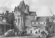 France CASTLE ROYAL CHATEAU DE BLOIS RENAISSANCE GOTHIC 1865 Art Print Engraving