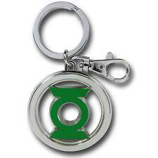 Green Lantern Symbol Color Pewter Keychain Silver