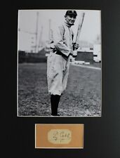 Ty Cobb (d.1961) Autograph Cut with 8x10 Photo and Matting Ready to Frame