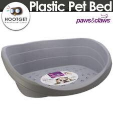 2 Size Plastic Pet Puppy Cat Dog Bed Basket Heavy duty Waterproof Easy Clean