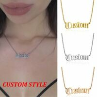 Personalized Stainless Steel Pendant Necklace Custom Chain Name Date Women Gifts