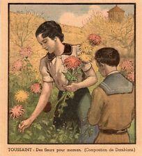 TOUSSAINT FLEURS POUR MAMAN IMAGE 1936 ALL SAINTS DAY FLOWERS FOR MUMMY PRINT