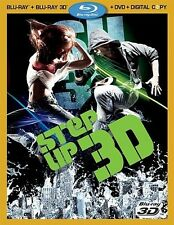 STEP UP 3D BLU RAY 3D + BLU RAY, DVD, DIGITAL COPY NEW! STEP UP 3, W/ SLIPCOVER
