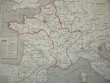LA FRANCE à la fin de la 1ere race de 613 à 768