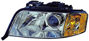 2002-2004 Audi A6 4WD New Left/Driver Side Halogen Headlight Assembly