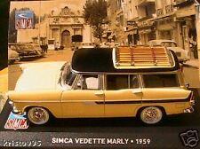 SIMCA VEDETTE MARLY 1959 1/43 NEUVE BREAK JAUNE IXO NEW