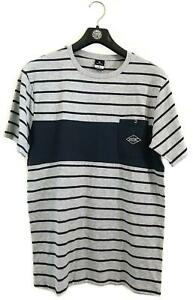 RIP CURL PIVOT TEE Men's TEE T.Shirt NEW Size S Grey Marle/Navy Stripe