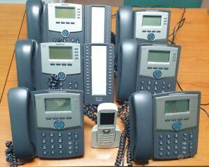 Stock lotto 7 telefoni cisco 6 voip ip 1 cordless dect