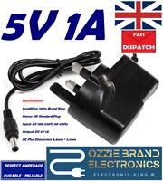 UK 5V 1A 1000mA AC/DC 100-240V AC 50/60Hz POWER SUPPLY ADAPTER CHARGER PLUG 3PIN
