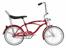 """Micargi 20"""" Lowrider Beach Cruiser Bicycle Bike Low Rider 12"""" frame Red"""