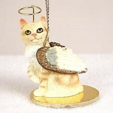 Manx Red Cat Angel Ornament