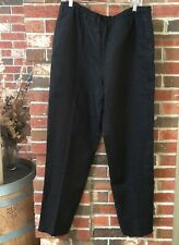 FLAX BOLD LINEN CROPPED PULL UP POCKET PANT RED PEPPER PLUS SIZE 2G