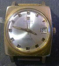 TISSOT Seastar AUTOMATIC DATE wristwatch. Vintage 1960s. No strap, ticks OK.