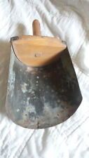 Vintage Primitive Rustic Flour or Seed Large Scoop Tin And Wood