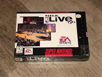NBA Live 96 Super Nintendo Snes Factory Sealed Brand New Excellent Authentic