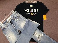 HUGE CLOTHING Outfits Lot ~ HOLLISTER & Trendy JUNIORS