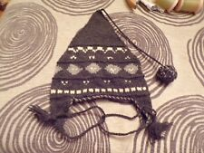 Gray & White Knit Winter Hat