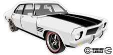 New! Collectable Holden HQ Monaro GTS 4Door - White with Black Rims