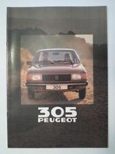 PEUGEOT 305 RANGE orig 1980 UK Mkt Sales Brochure - GL GR GRD SR