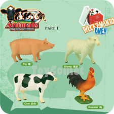Set of 4 Farm Animals Part I 4D 3D Puzzle Model Kit Educational Toy