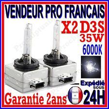 2 AMPOULES D3S AU XENON 35W KIT HID 12V LAMPE RECHANGE D ORIGINE FEU PHARE 6000K