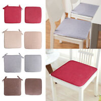 1PCS Removable Chair Cushion Seat Pads Patio Linen Tie On Dining Room Home Decor
