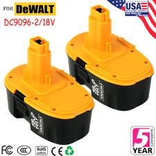 18V DC9096-2 Ni-CD For DeWALT DC9096 18-Volt XRP Battery DW9098 DC9099 - 2pk New