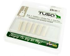 Graph Tech TUSQ Traditional Acoustic Guitar Bridge Pins WHITE, NO DOT PP-1100-01