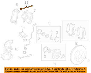 MERCEDES OEM 10-14 E350 Front Brake-Flex Hose 2044280435