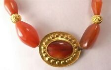 Ancient Near East carnelian and gold necklace I-II mil. BC