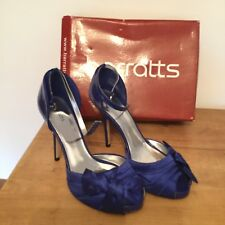 Barrett's Blue Satin Shoes Size 6 Brand New Ideal For Xmas Party