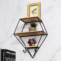 3 Tier Floating Shelves Iron Wall Shelf For Bathroom Living Room Bedroom Office