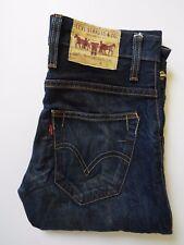 Levi's 513 Jeans Uomo Slim Fit W29 L34 Dark Blue Strauss levh 715 #