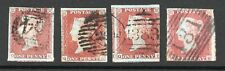 QV sg 8 penny red brown X 4 all good used example.