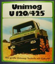Altes Blechschild Traktor Mercedes V120 Unimog Schlepper Reklame gebraucht used