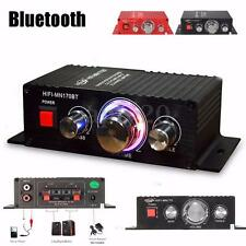 12V Car Home Mini Bluetooth Power Amplifier HI-FI Stereo Digital Audio AMP 15W*2
