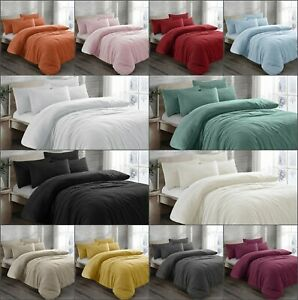 New Luxury Teddy Fleece Sherpa Duvet Quilt Cover Cover With Pillowcases All Size